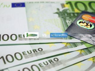 Dinero euro logos Cetelem y Solcredito
