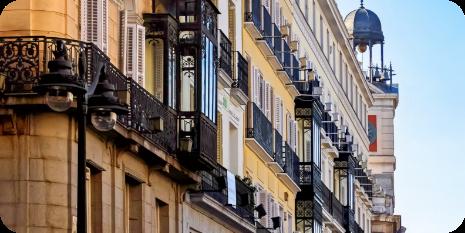 balcones de edificios